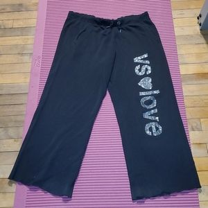 Lot of boyfriend style Victoria secret sweats.